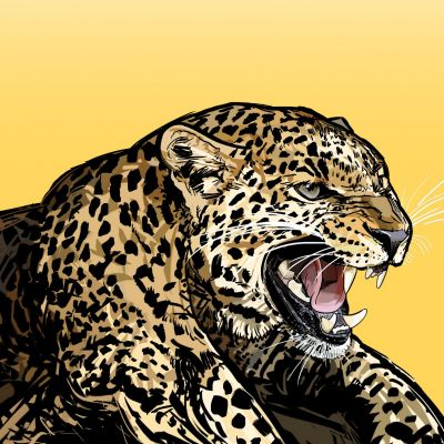 Graphic Leopard painting 2