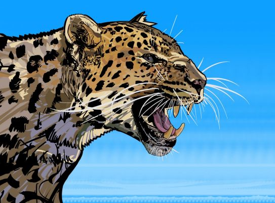 Graphic Leopard Painting